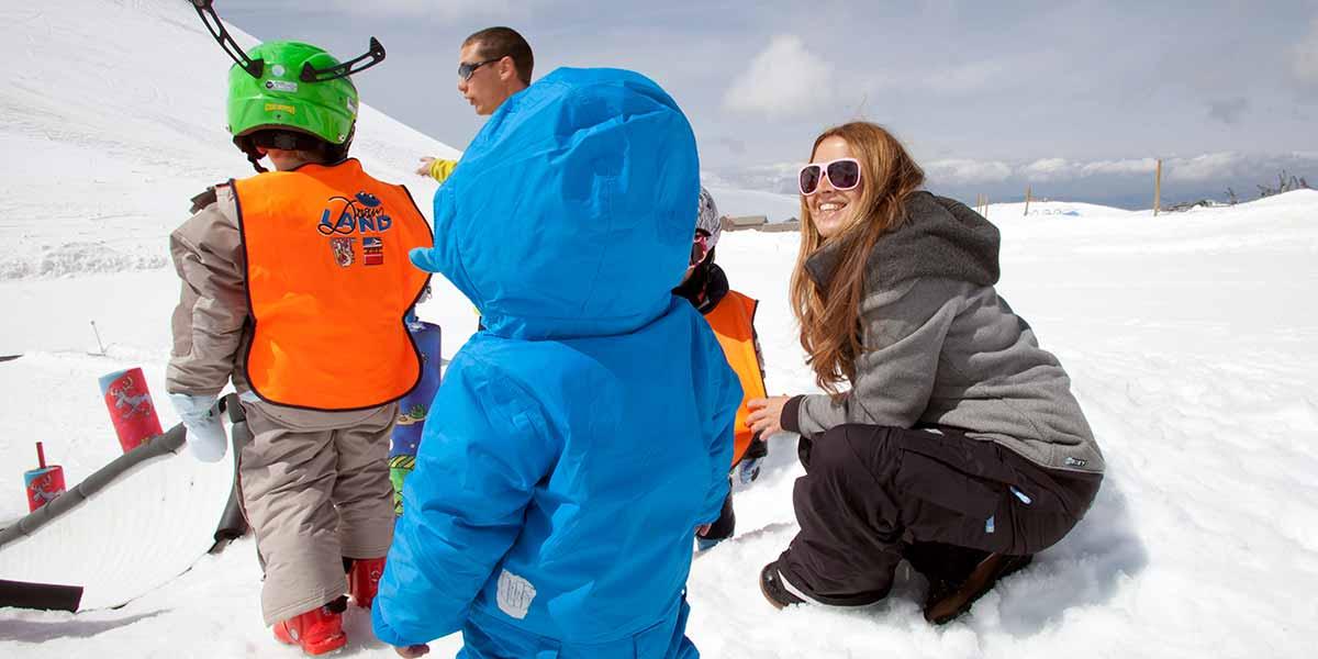 familias e crianças Serra Nevada