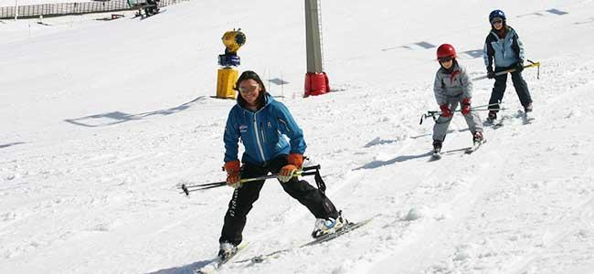 aulas de ski pa criancas