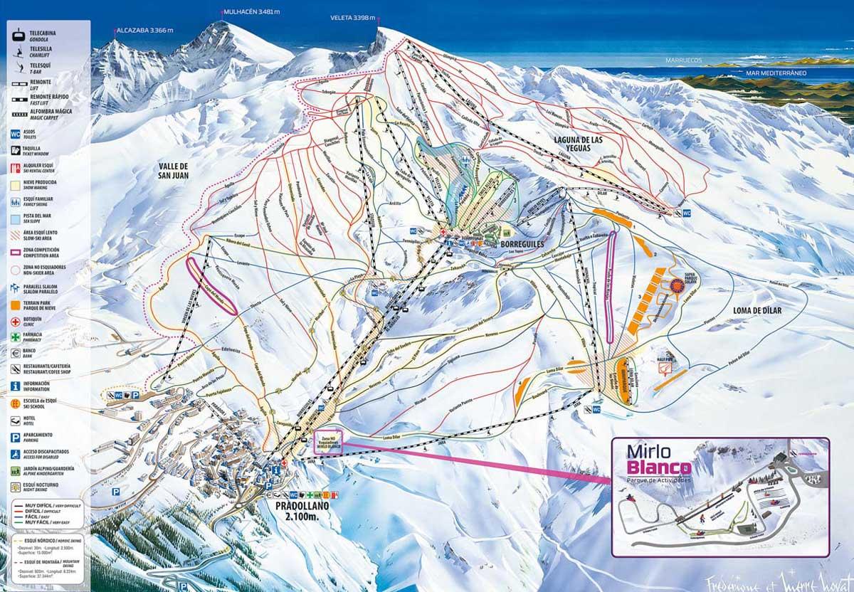 Mapa de pistas Serra Nevada
